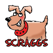 scraggs the dog cartoon logo